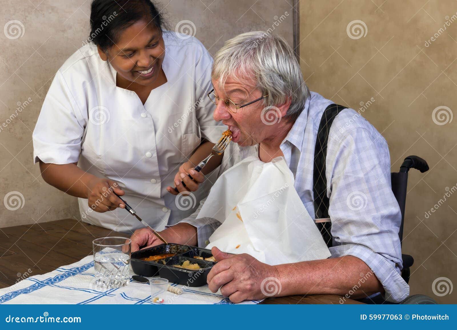Elderly Man Raw Food Diet