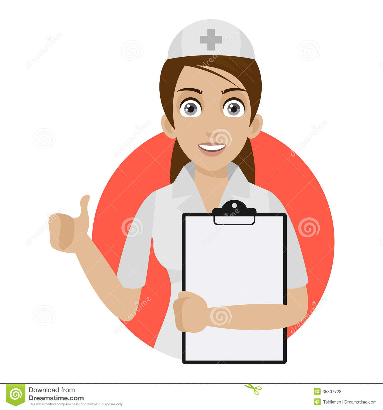 Nurse keeps blank in circle