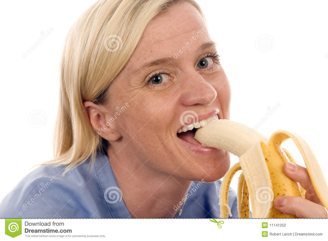 Nurse Medical Person Eating Banana Stock Photography - Image: 11141252