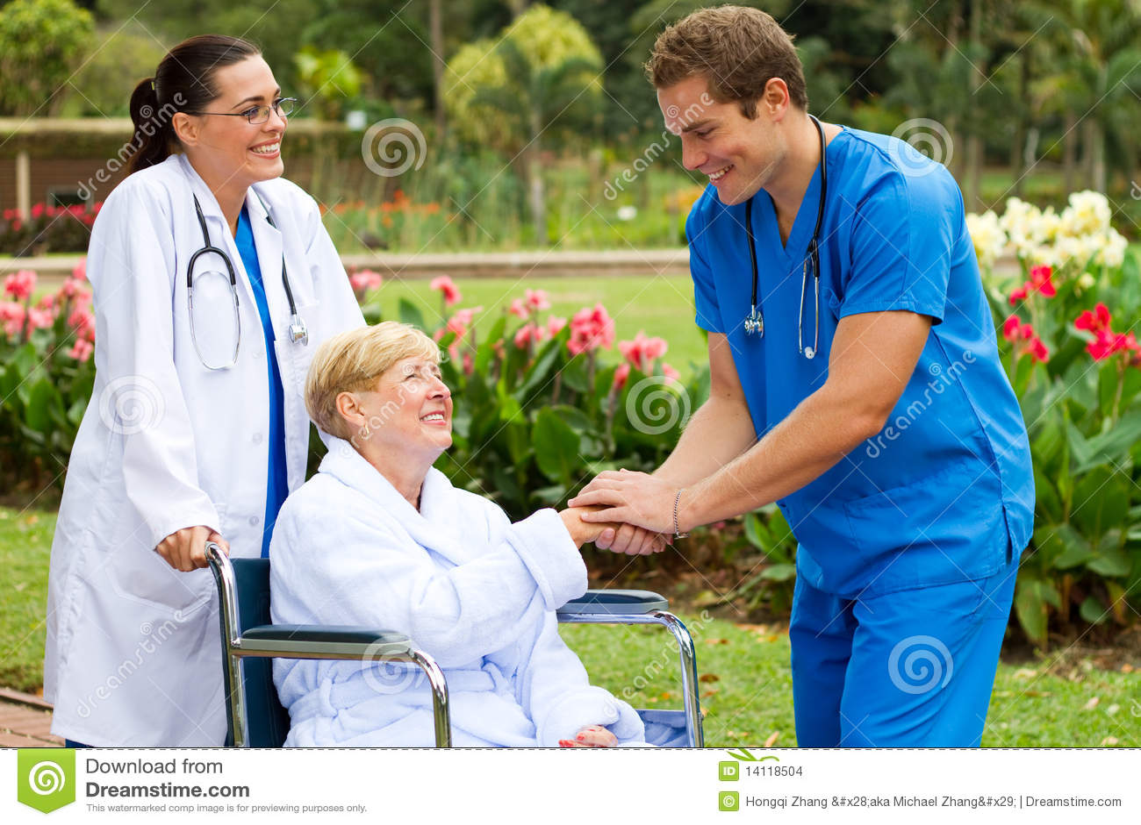 Nurse meet patient