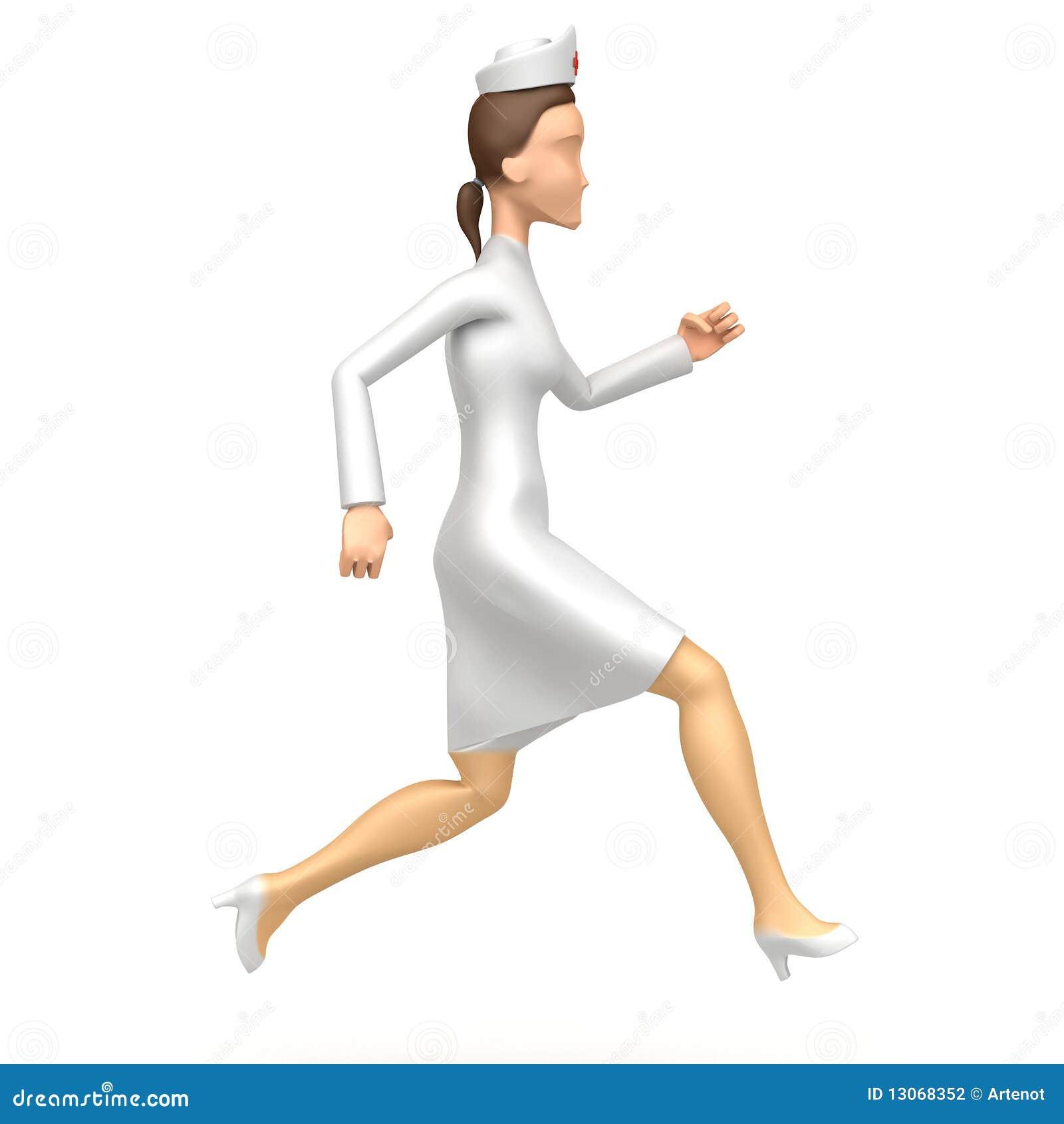Nurse Runs Stock Photography Image 13068352