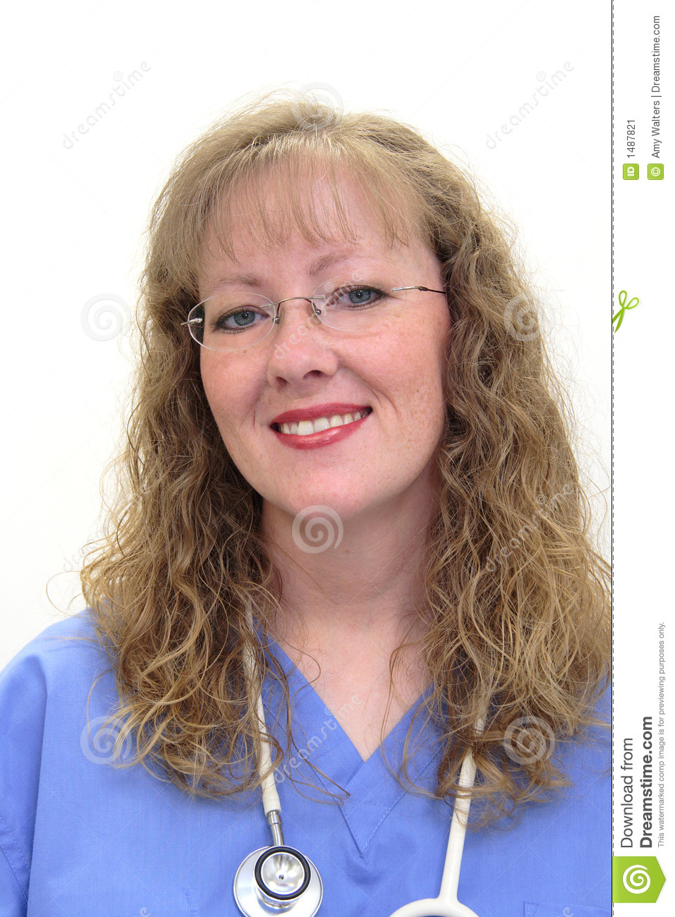 Download Nurse in scrubs stock image. Image of care, build, average - 1487821