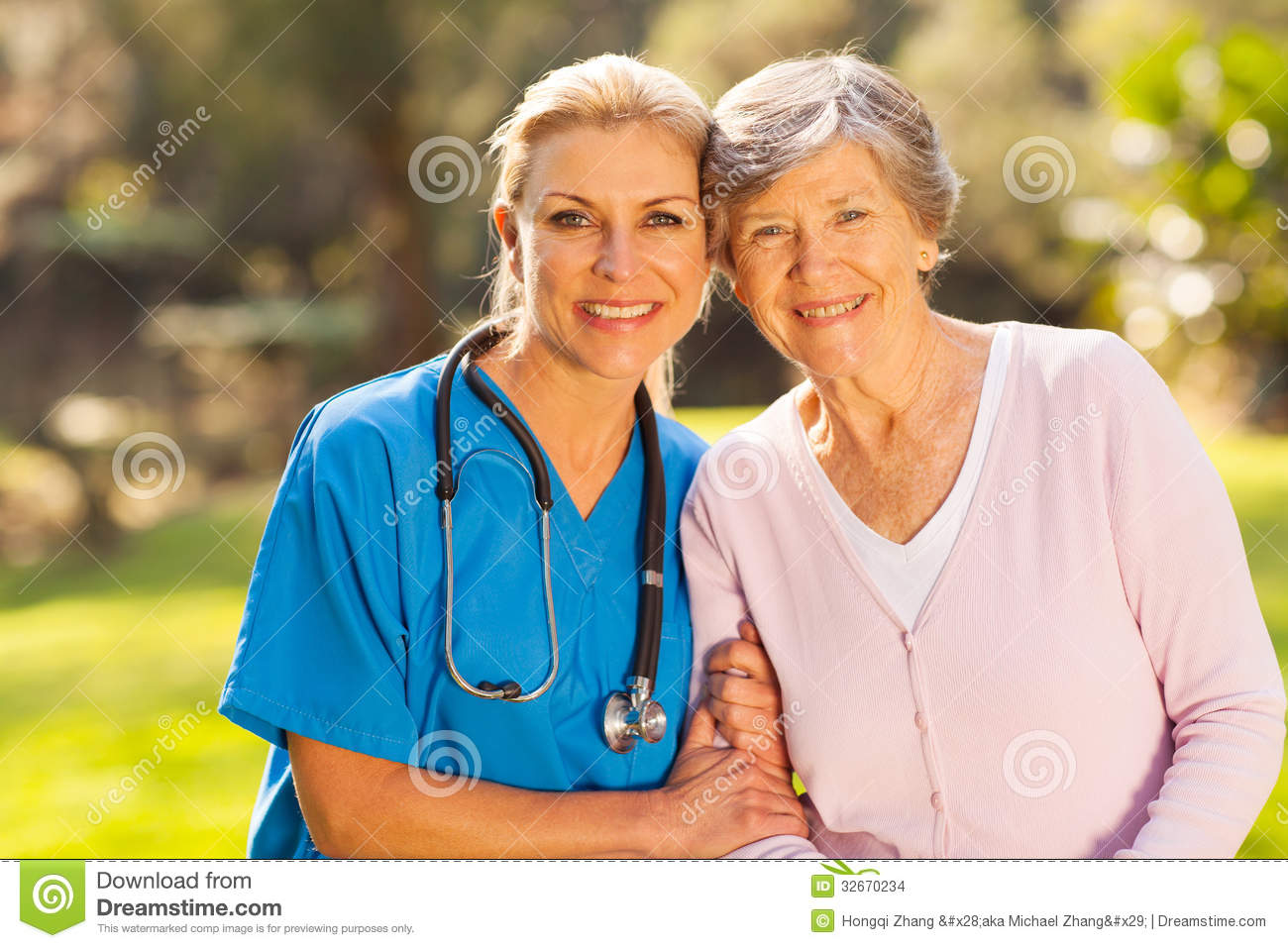 Nurse senior patient