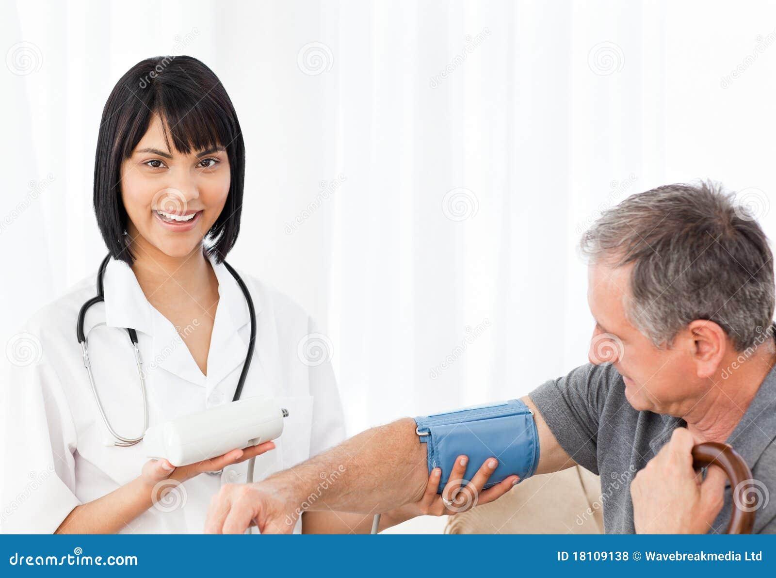 Nurse taking blood stock photo. Image of loving, hospital ...