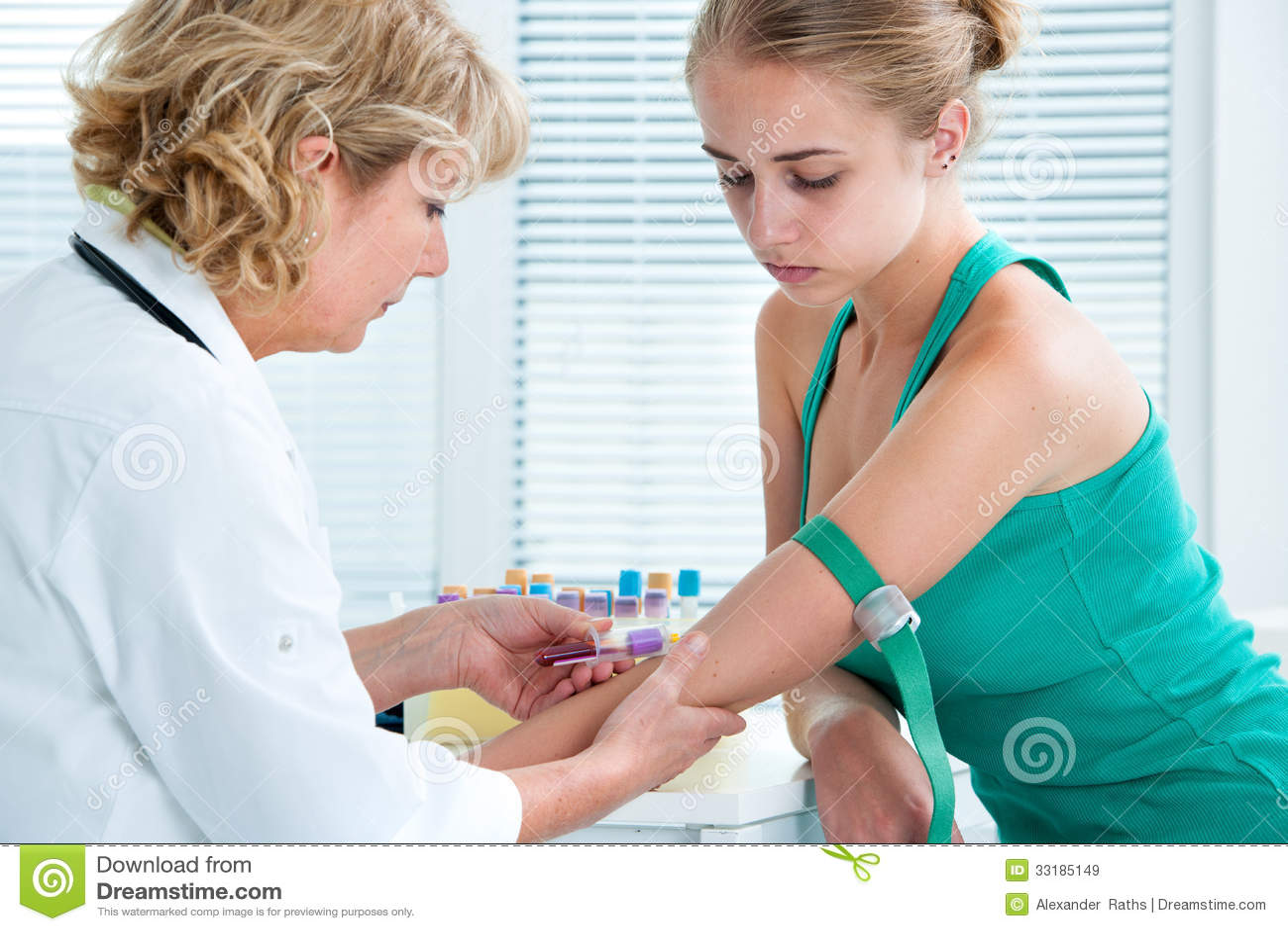 Nurse Taking Blood Sample Royalty Free Stock Images - Image: 33185149