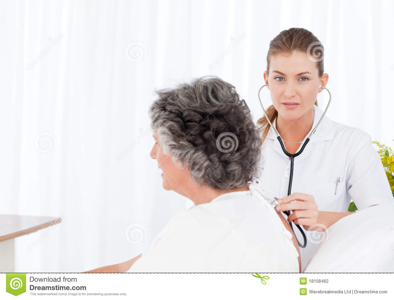 Nurse Taking Care Of Her Patient Stock Photography - Image ...