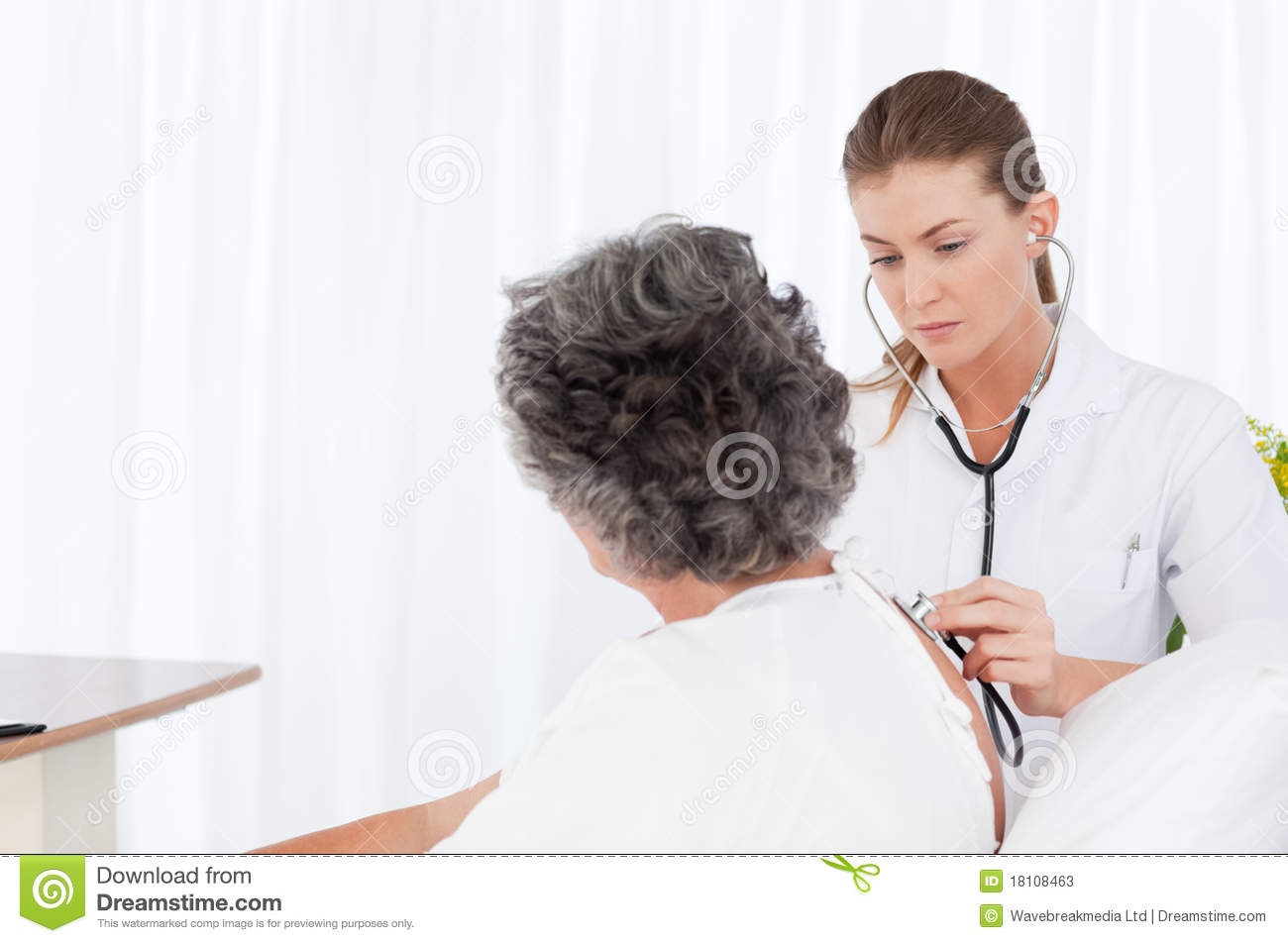 Nurse Taking Care Of Her Patient Stock Photos - Image ...