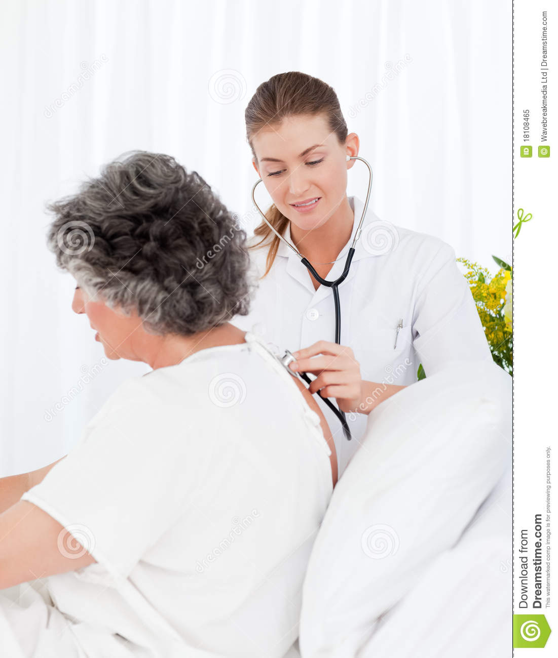 Nurse Taking Care Of Her Patient Royalty Free Stock Photo ...