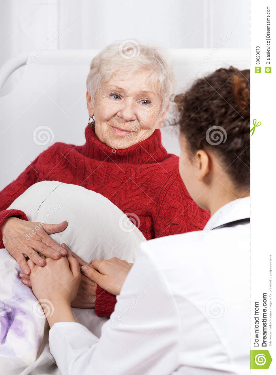 Nurse Taking Care Of Patient Stock Photo - Image: 39020073