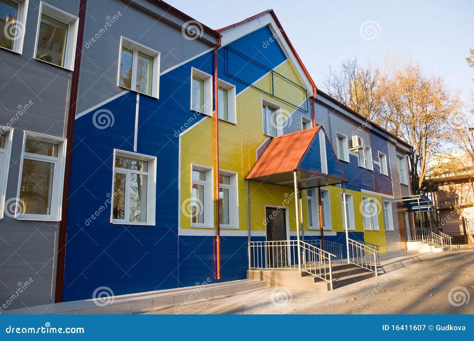 Nursery school stock image. Image of building, design - 16411607