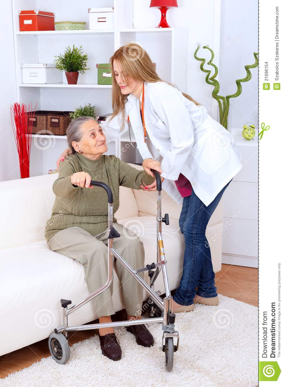 Nursing Home Care Stock Photo. Image Of Therapy, Treatment