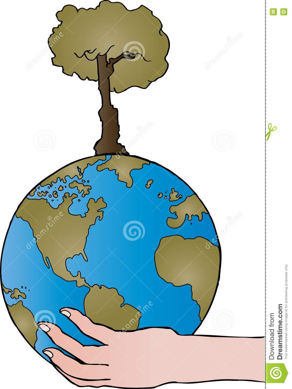 Nurture the world stock vector illustration of metaphor 16492845 - Nurture images download ...