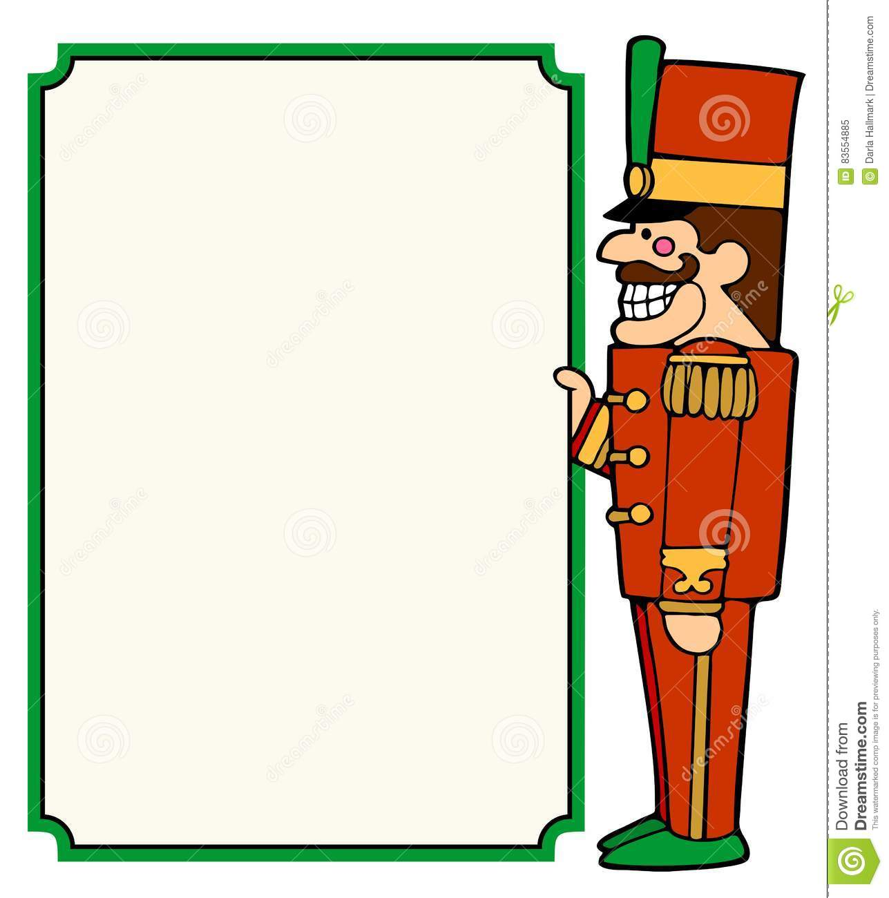 nutcracker soldier border design stock vector image nutcracker clip art images nutcracker clipart black and white