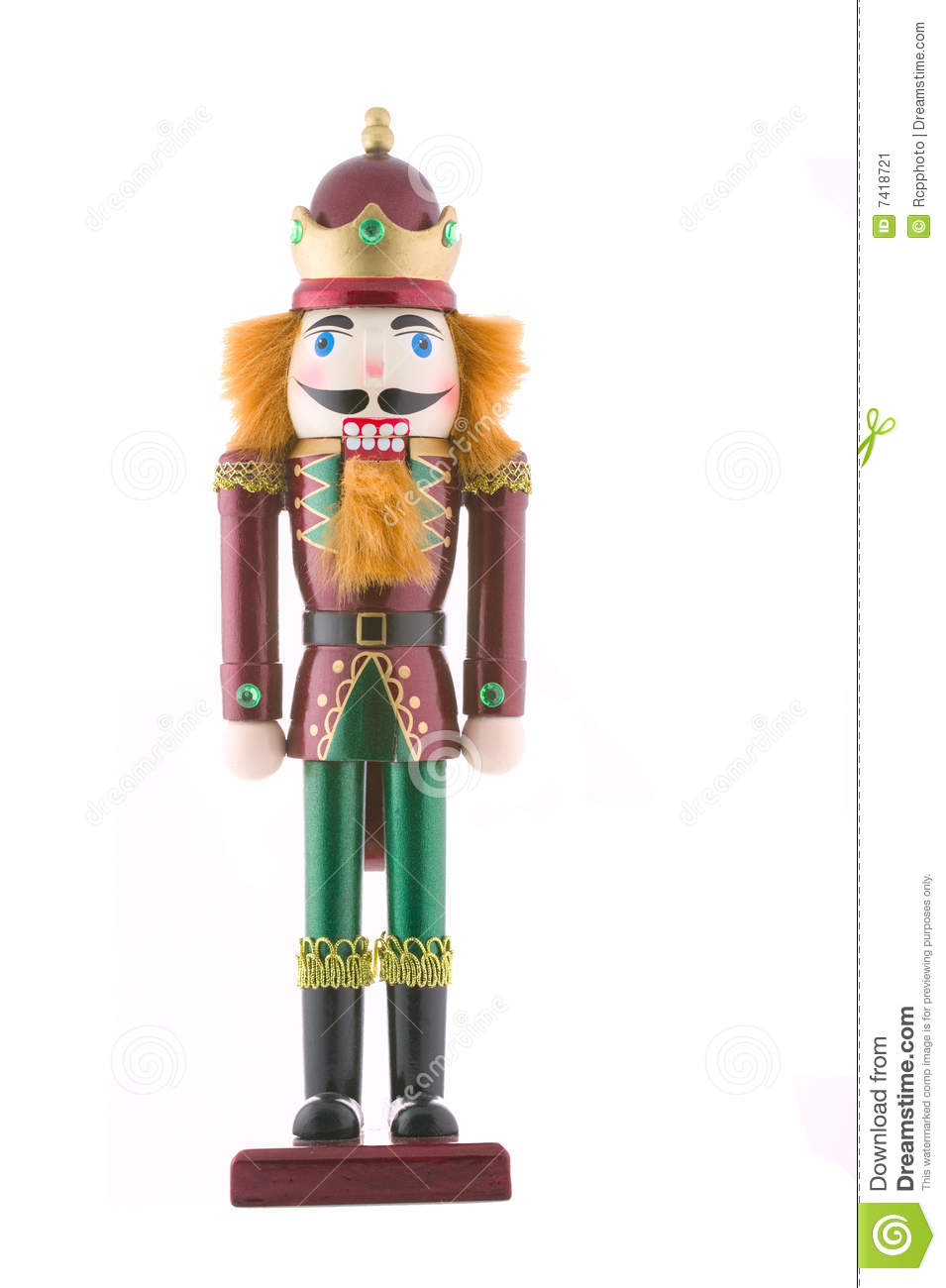 Nutcracker Toy Soldier Isolated Stock Image Image 7418721