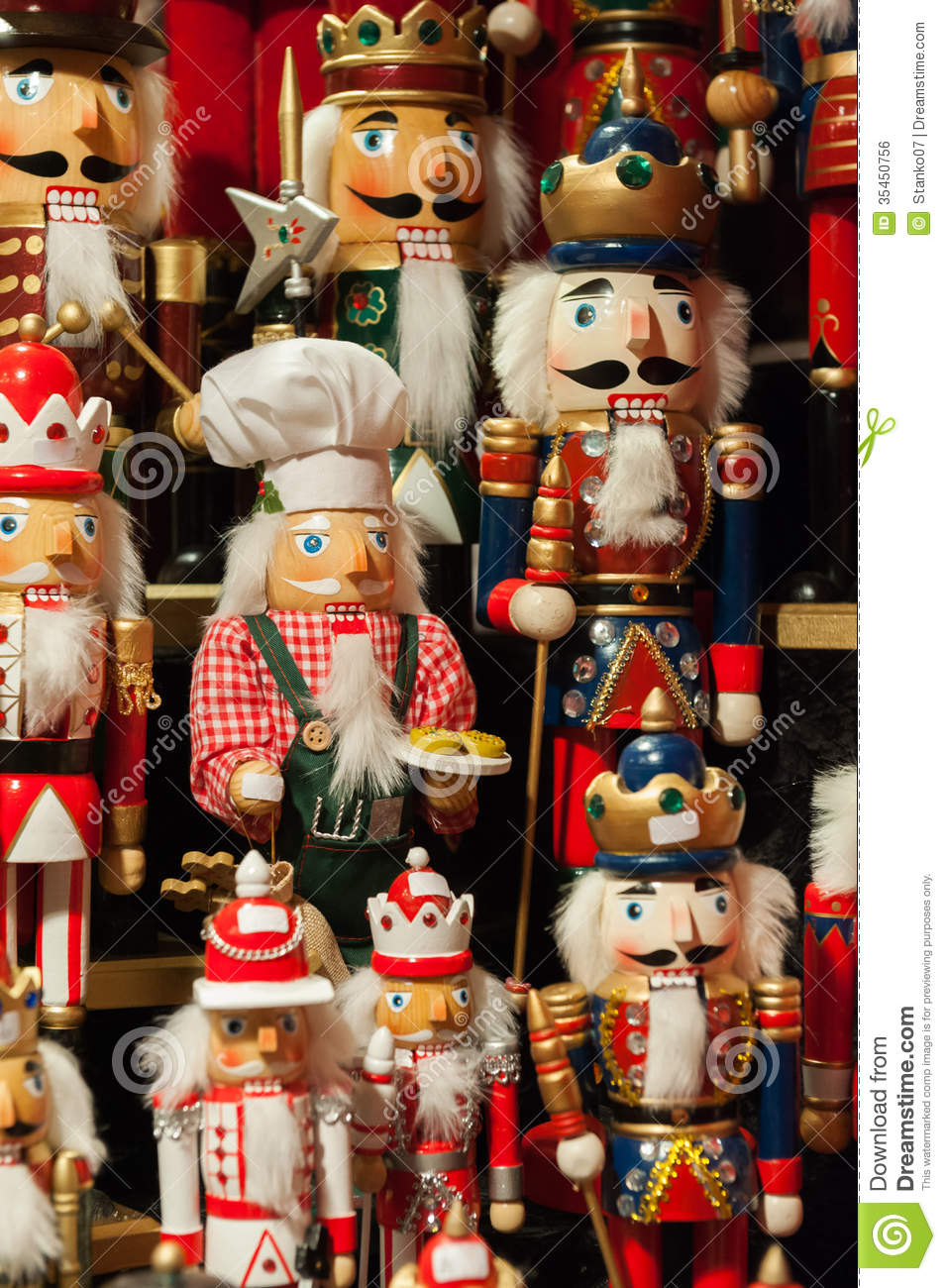 Traditional german christmas decorations - Nutcrackers Christmas Figurines Royalty Free Stock Image Christmas Colorful Figurines German Market Traditional