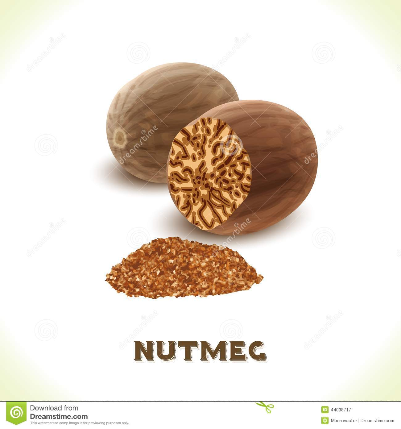 Nutmeg: sweet, aromatic and nutty