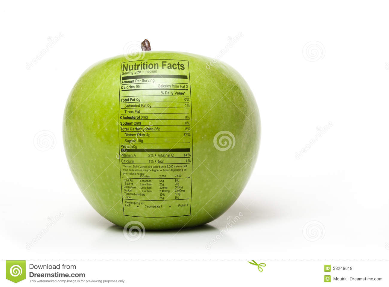 Nutrition Apple Royalty Free Stock Photos - Image: 38248018