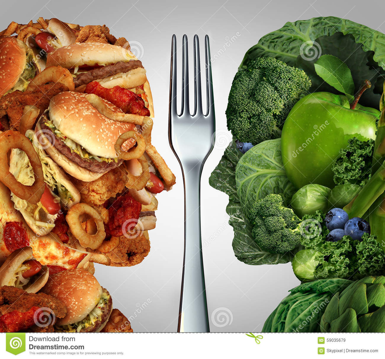 Nutrition Decision Stock Illustration - Image: 59035679