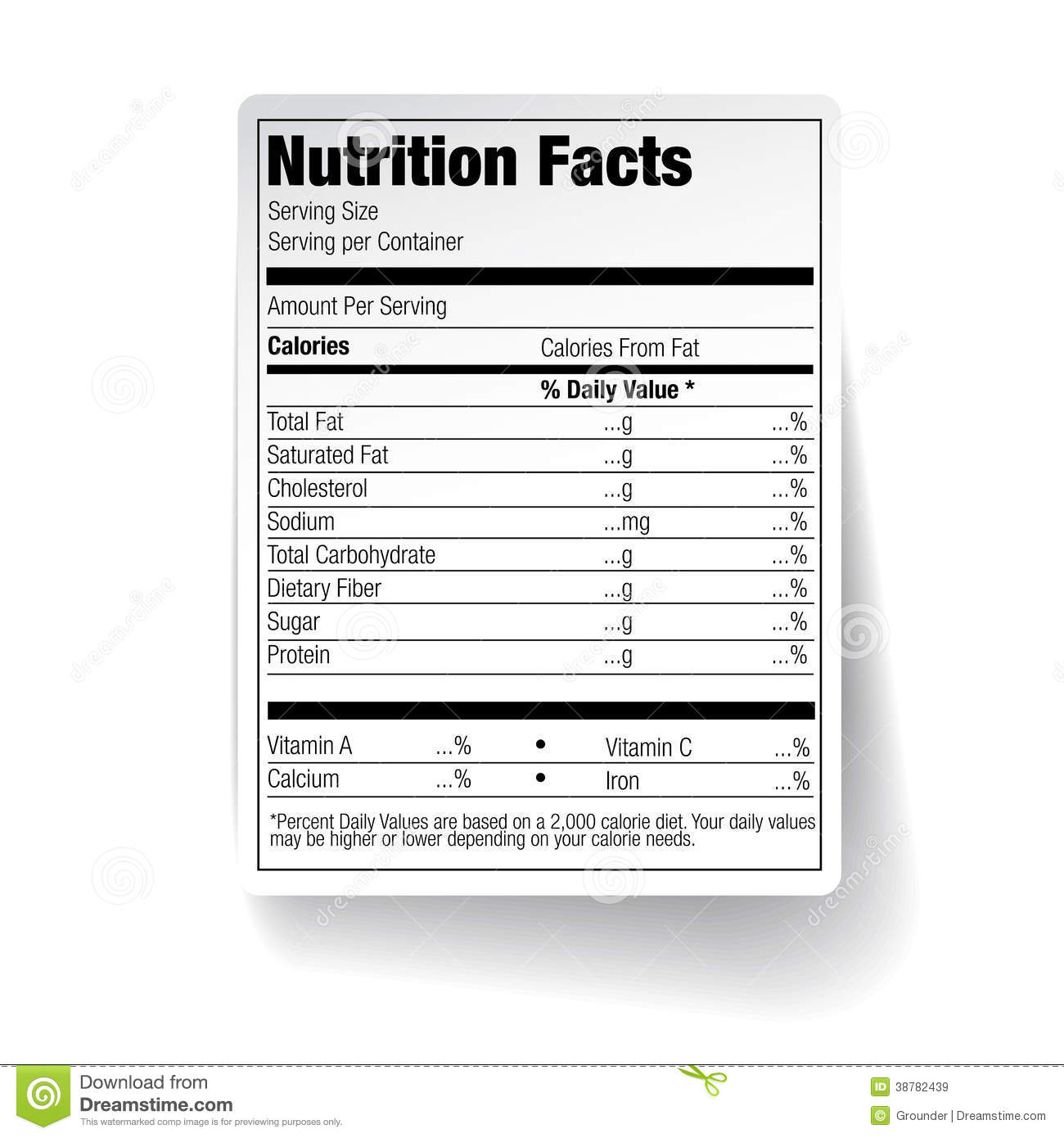 Nutrition label template playbestonlinegames nutrition facts food label stock vector image 38782439 pronofoot35fo Images