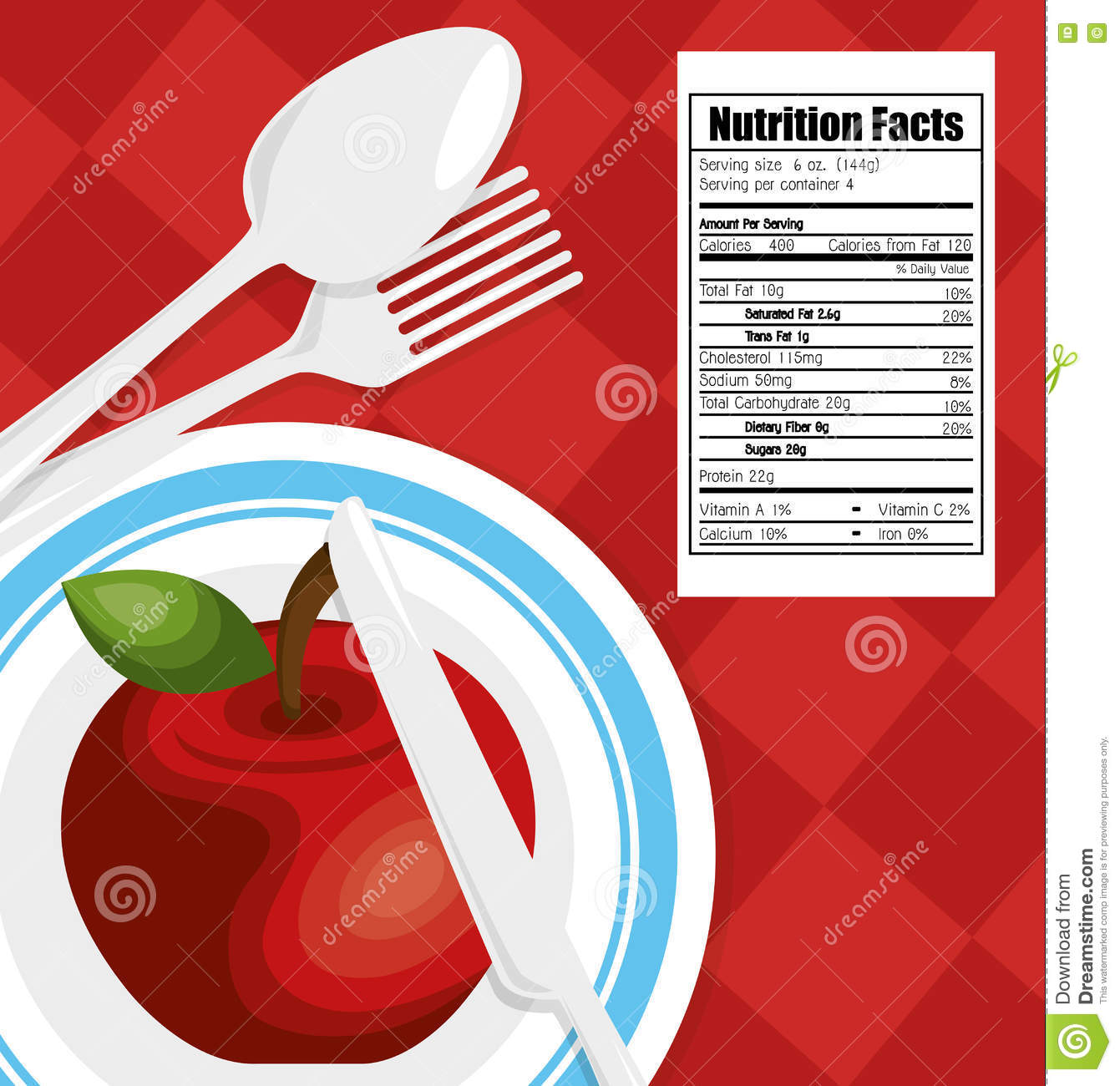 Nutrition healthy food icon