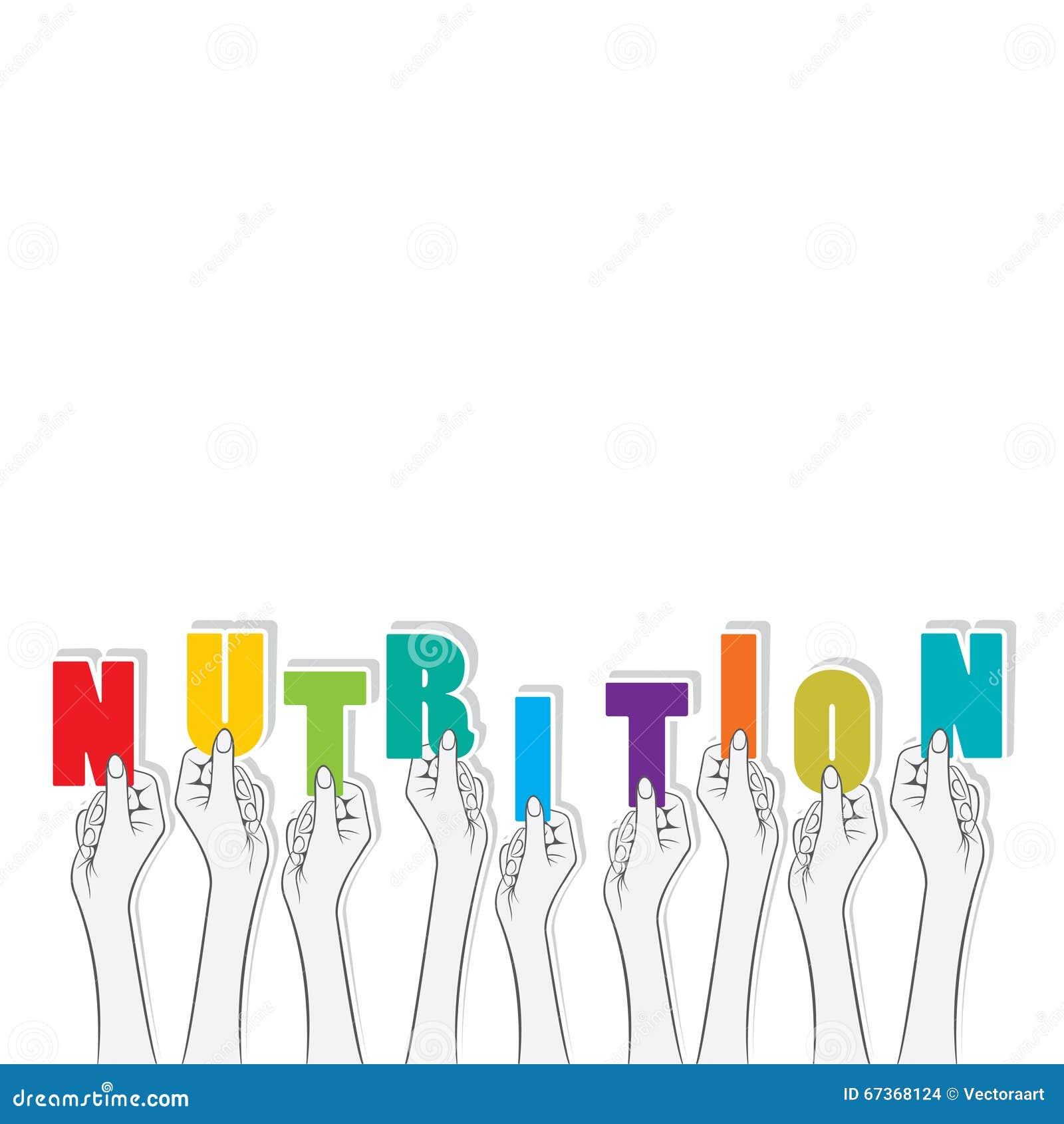 Nutrition text banner design stock vector image 67368124 - Text banner design ...