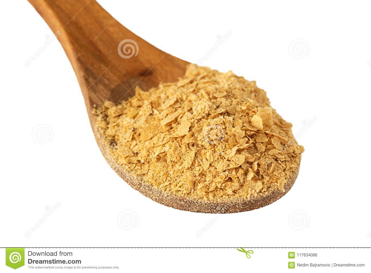 Nutritional brewers yeast flakes