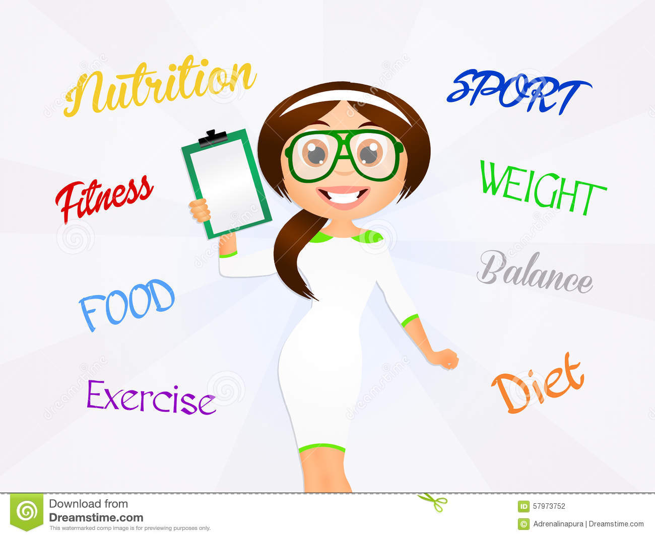 Nutritionist stock illustration. Image of food, fitness ...