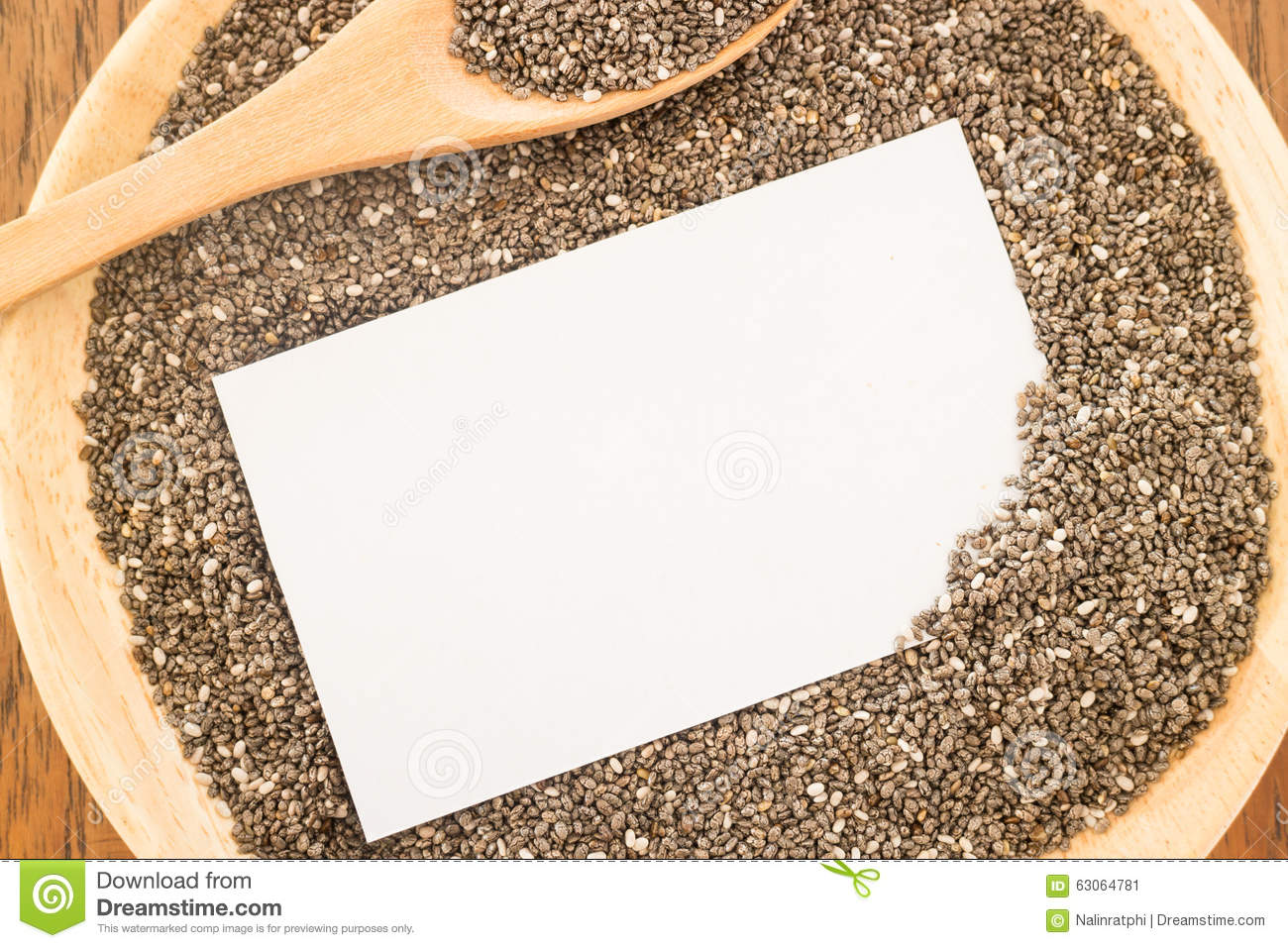 Nutritious Chia Seeds And Business Card Stock Image Image Of Chia
