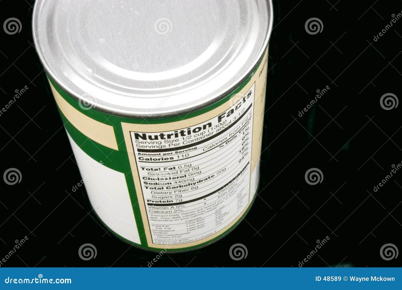 Nutrizione in una latta
