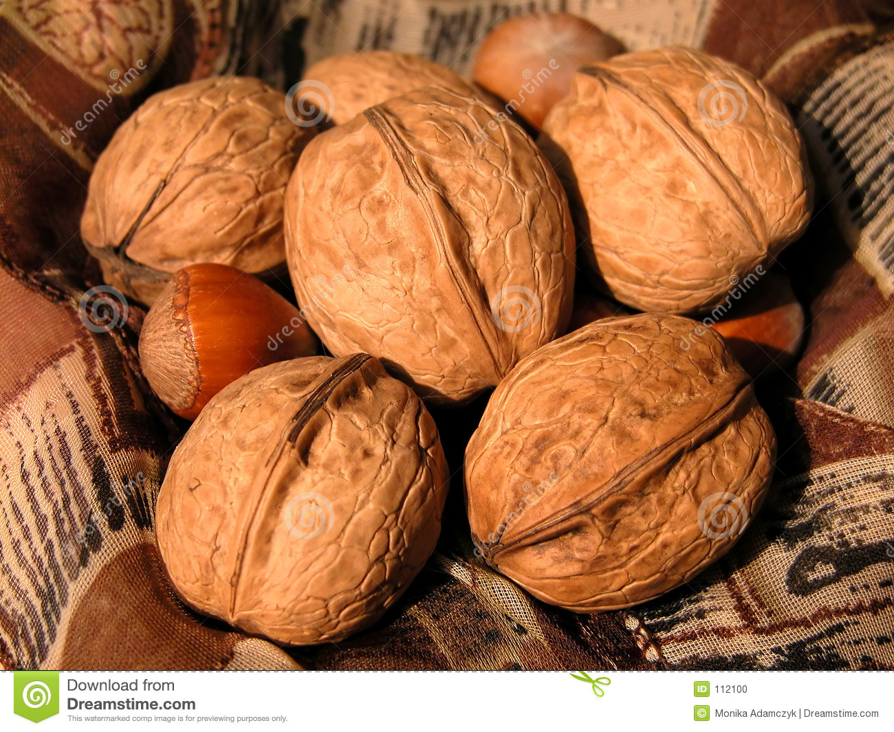 Download Nuts stock photo. Image of superfood, walnuts, crust, brown - 112100
