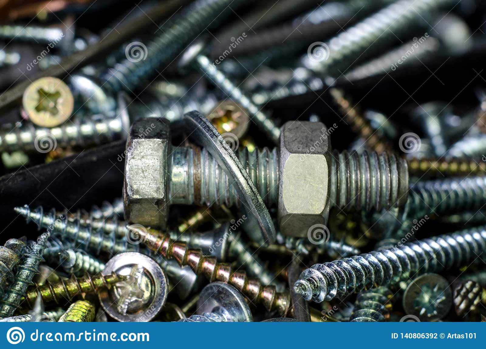 Nuts and bolts stock photo  Image of building, background