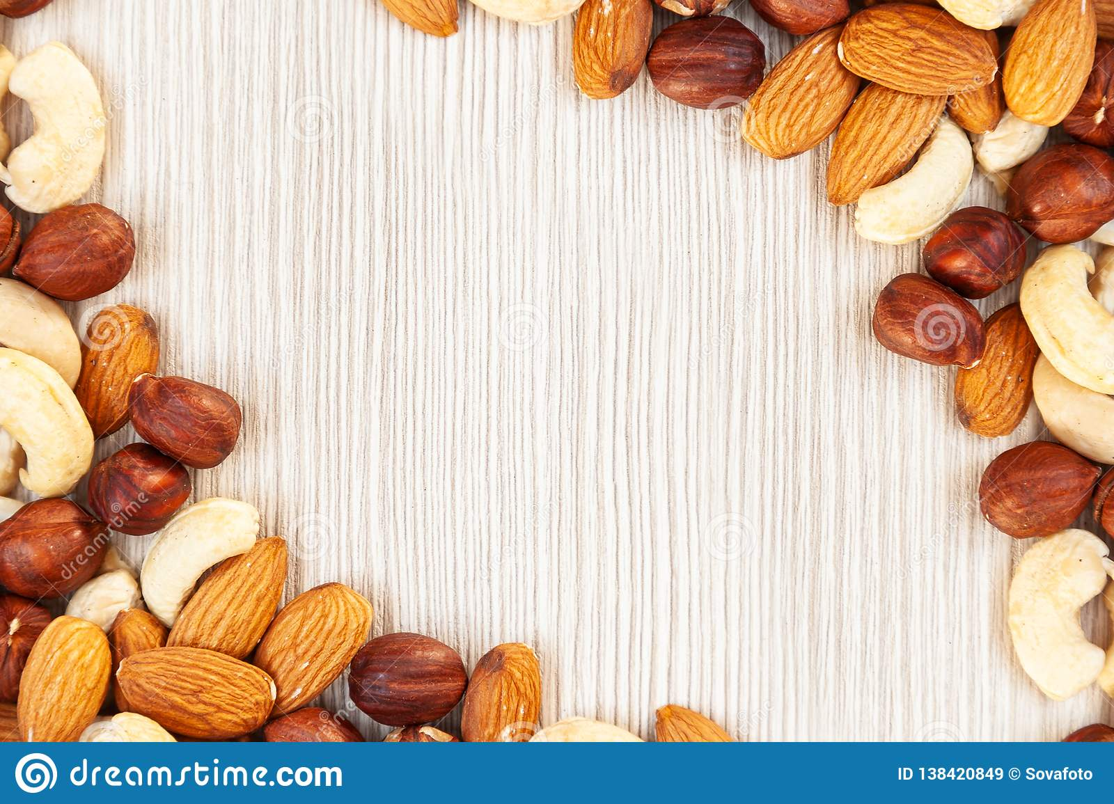 Nuts pattern stock image  Image of nutrition, almonds