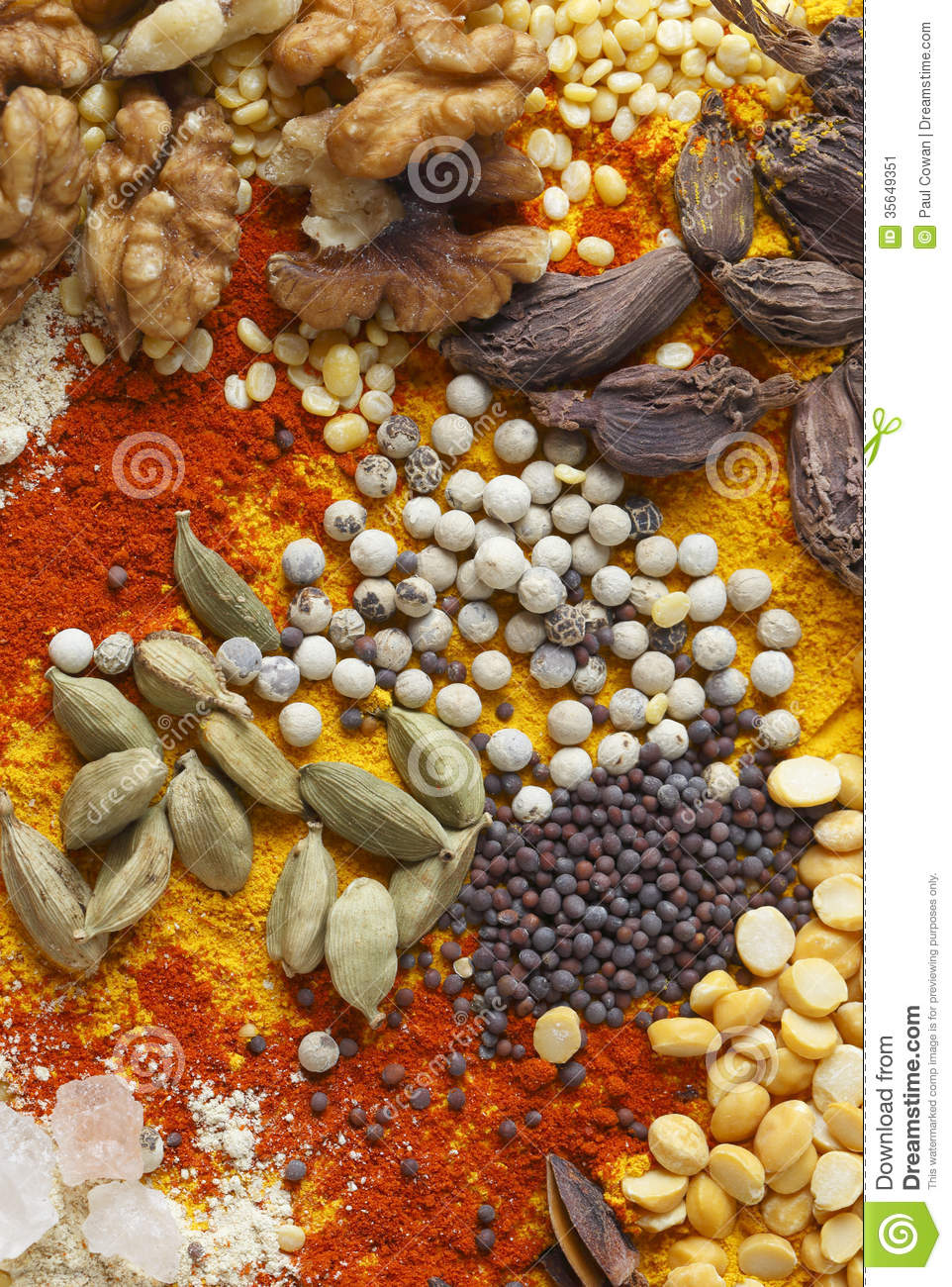 Nuts pulses and spices stock image image of background for 7 spices asian cuisine
