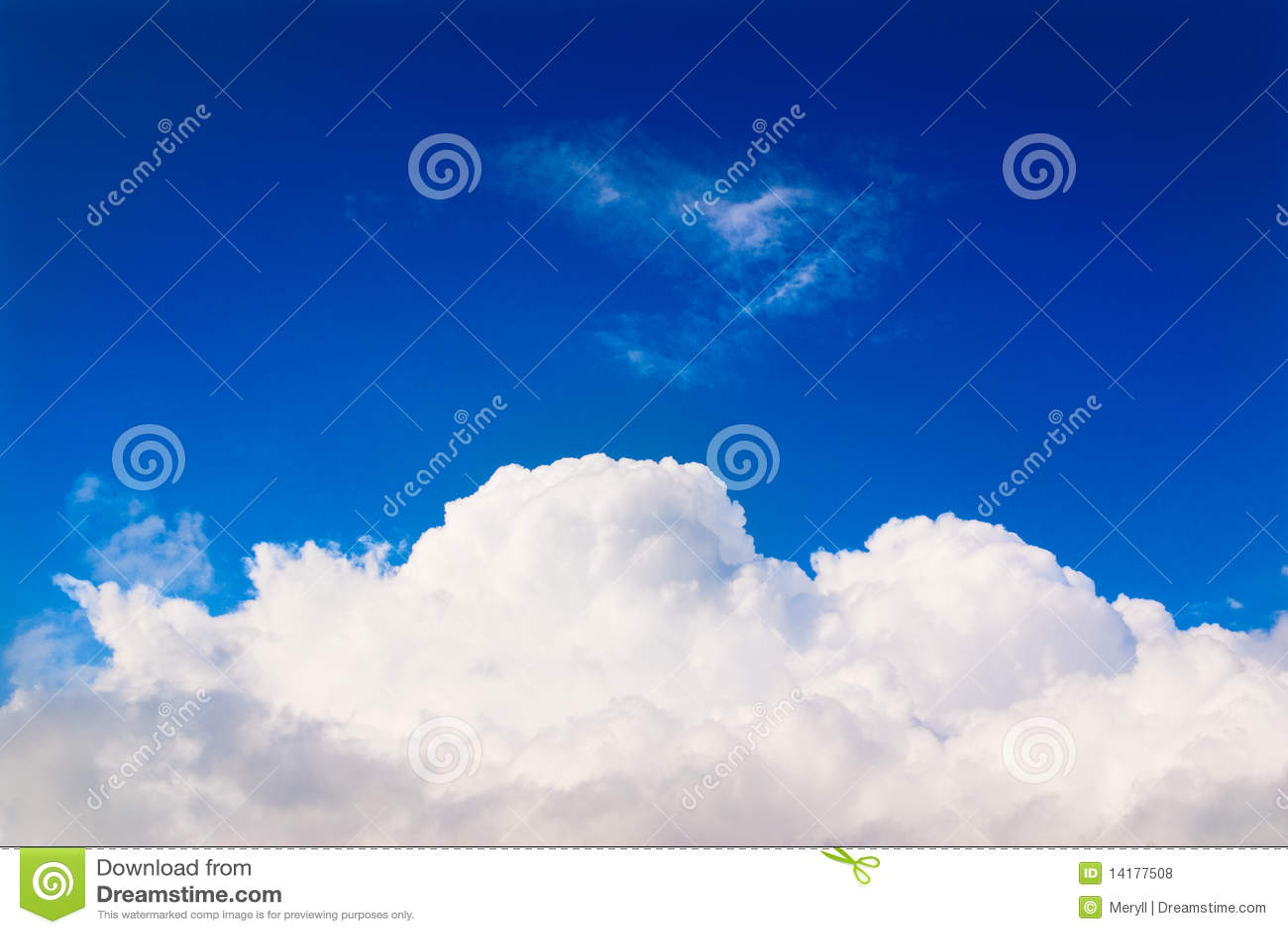 Nuvem branca no céu azul, céu