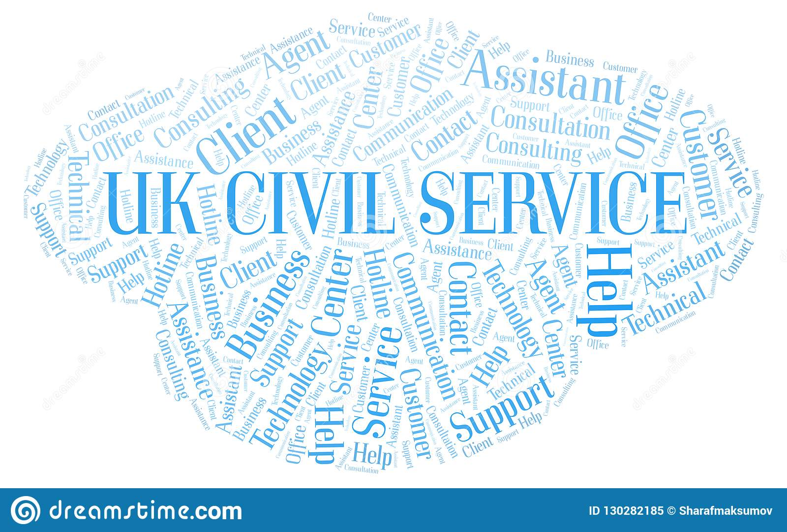 Nuvem britânica da palavra de serviço civil