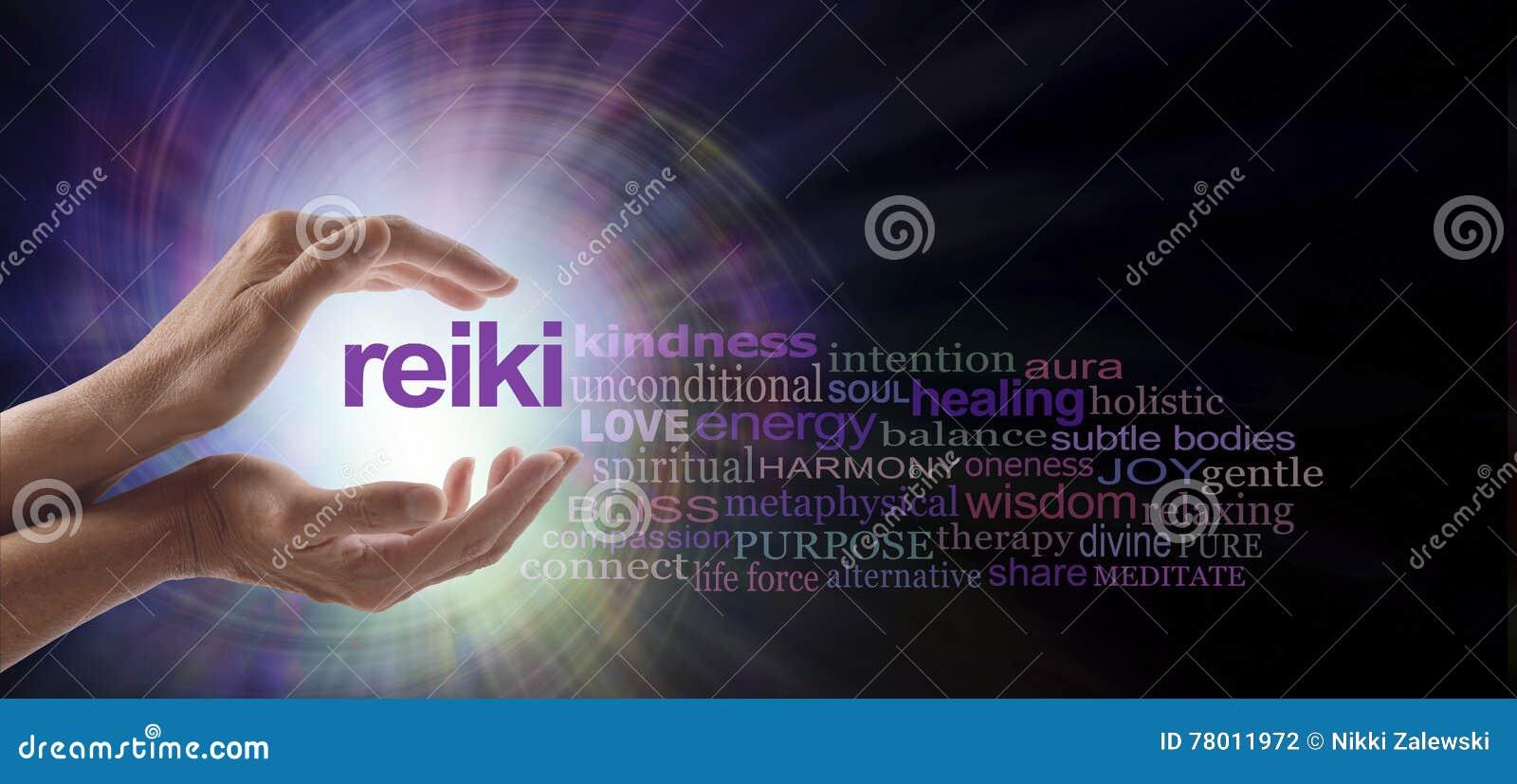 Nuvem cura da palavra do redemoinho de Reiki