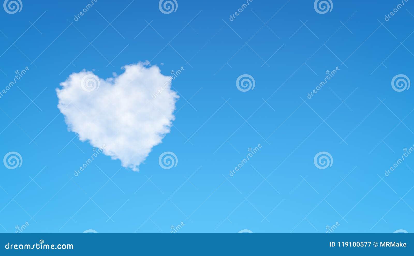 Nuvem da forma do coração