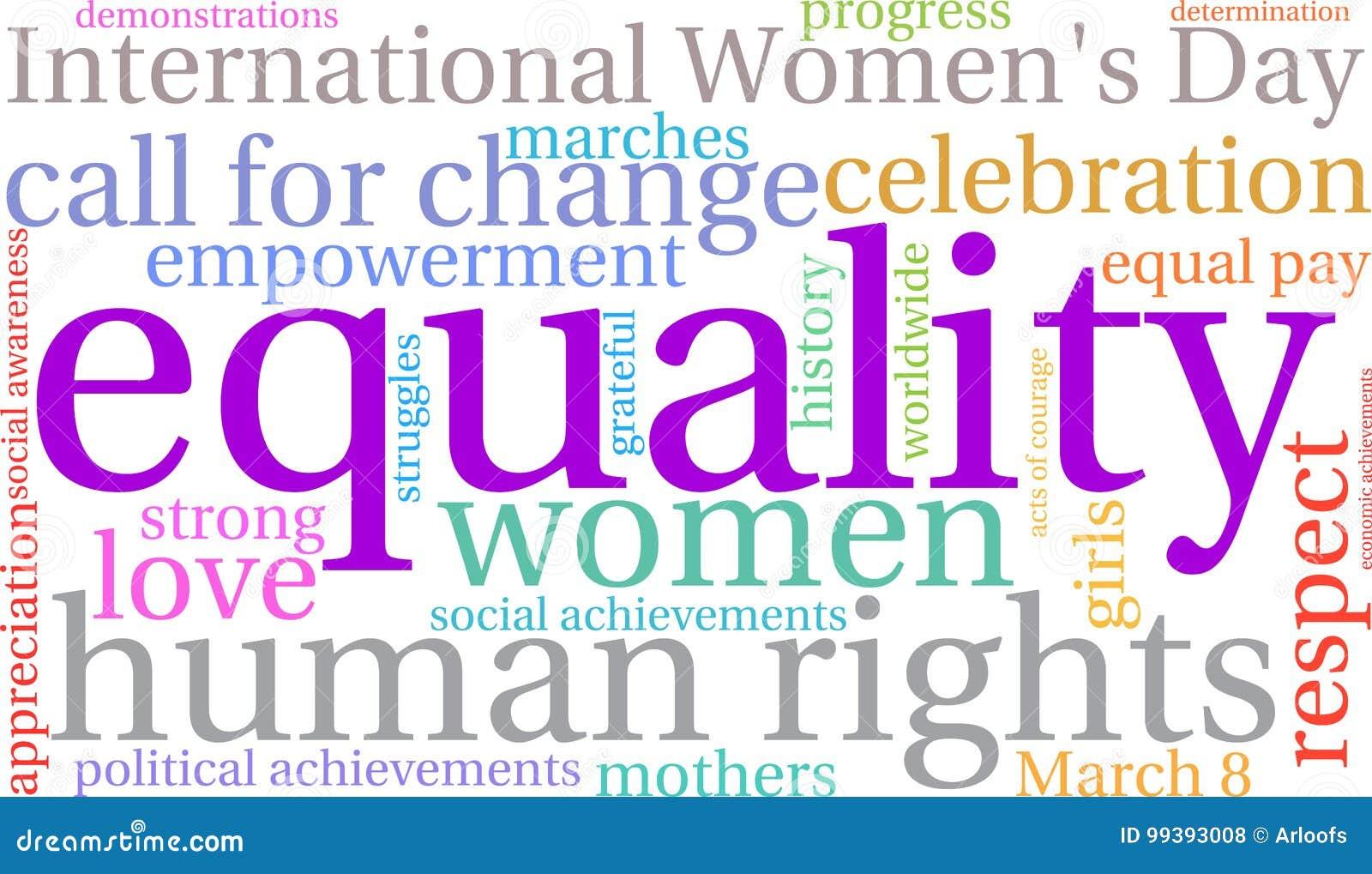 Nuvem da palavra da igualdade