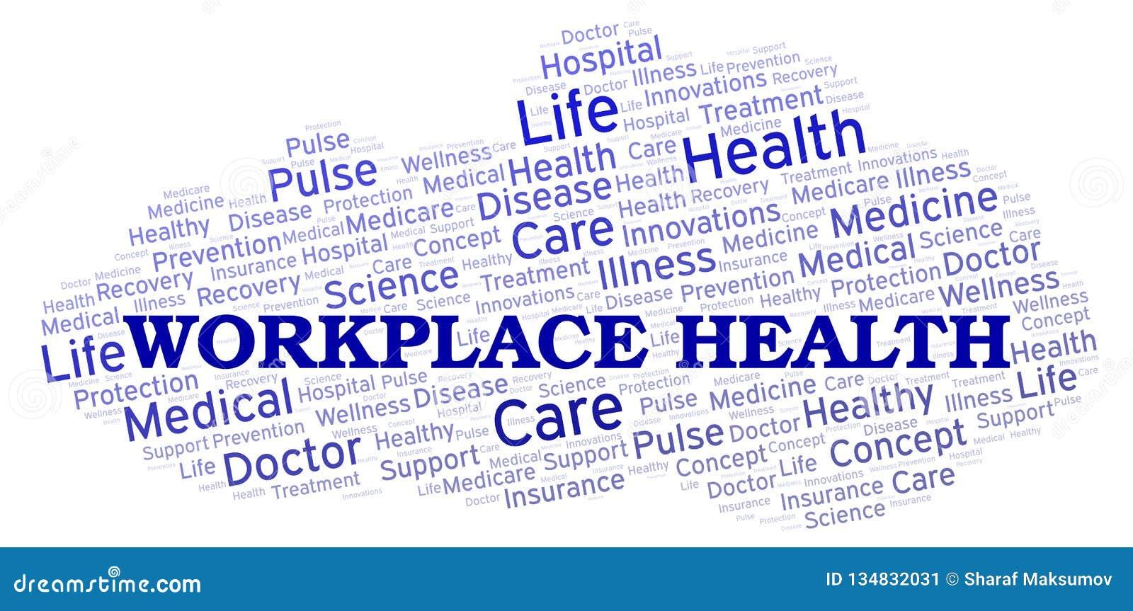 Nuvem da palavra da saúde do local de trabalho