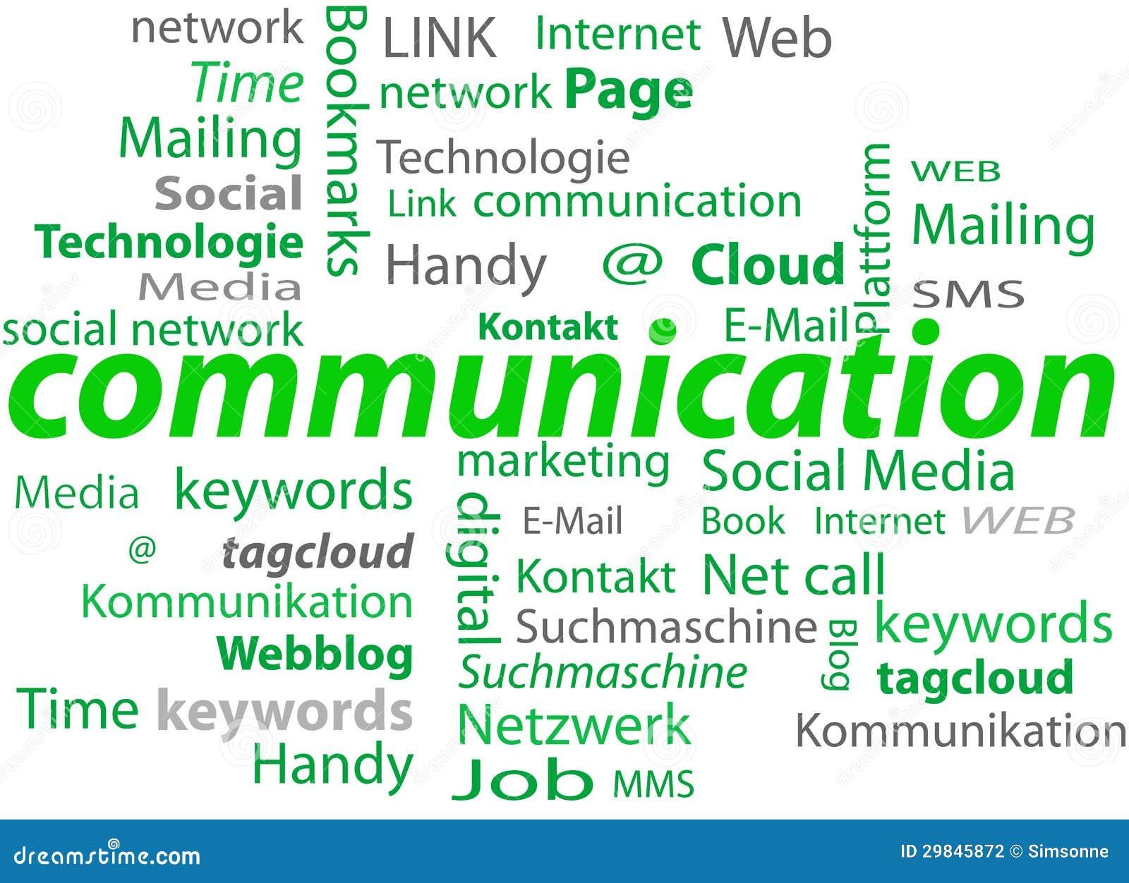 Nuvem de uma comunicação