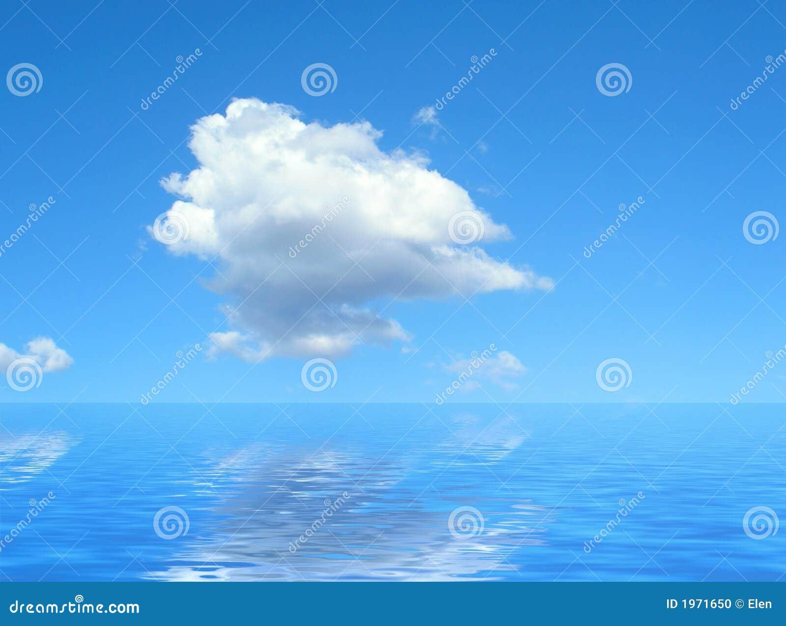 Nuvem e mar