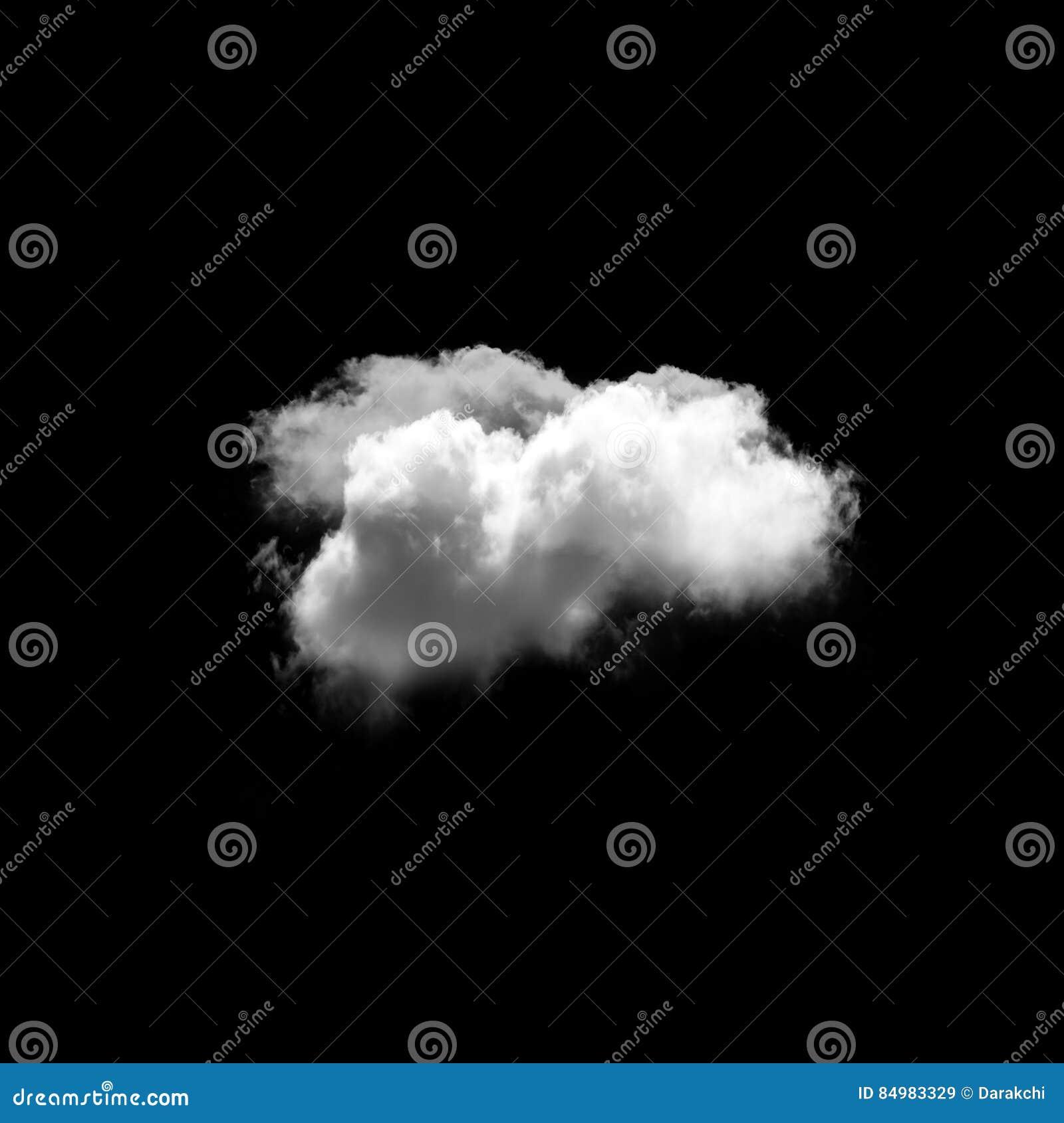 Nuvem isolada sobre o fundo preto
