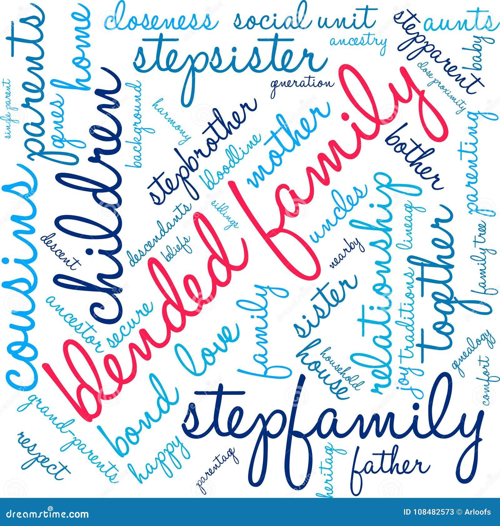 Nuvem misturada da palavra da família