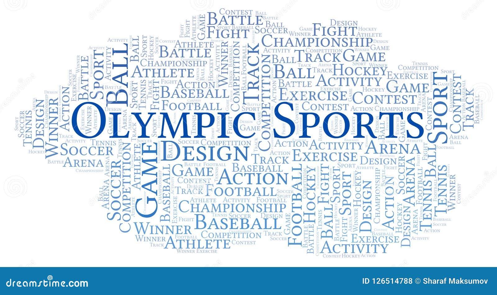 Nuvem olímpica da palavra dos esportes