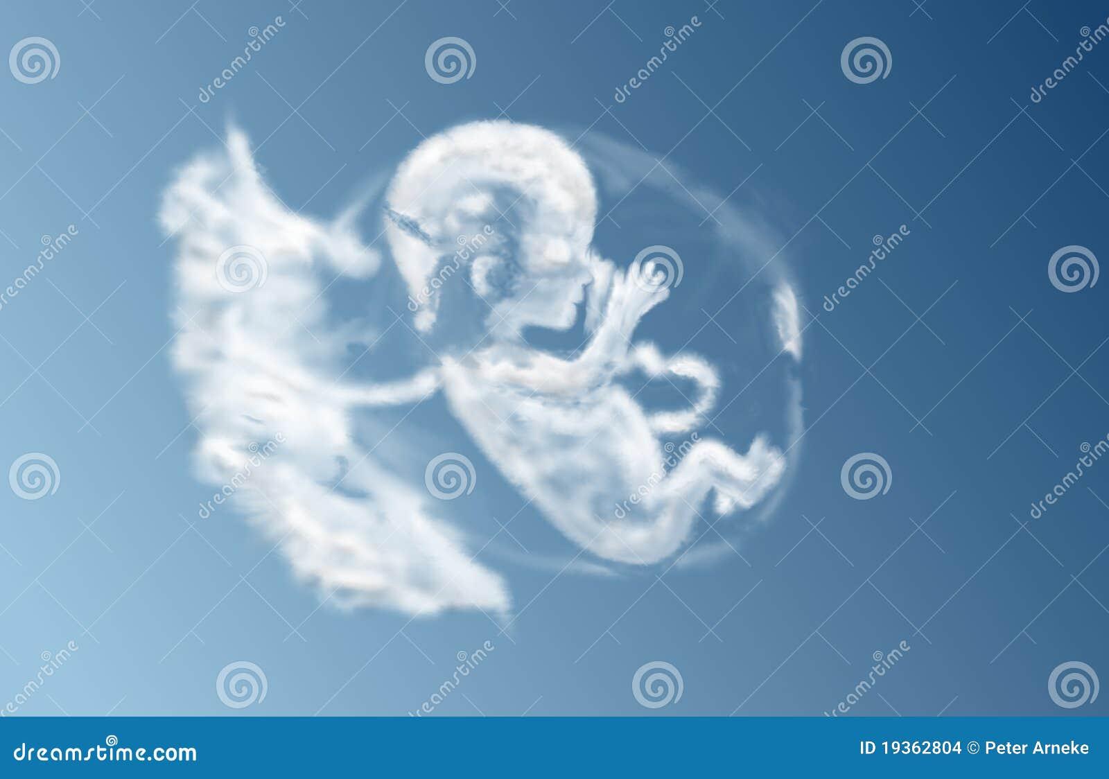 Nuvem por nascer da criança