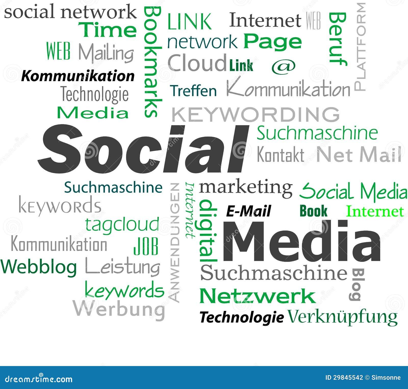 Nuvem social dos meios