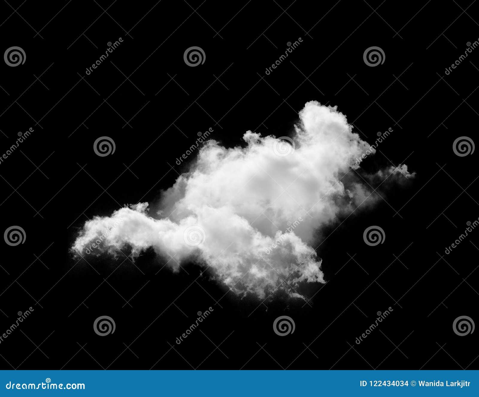 Nuvens brancas sobre o céu preto