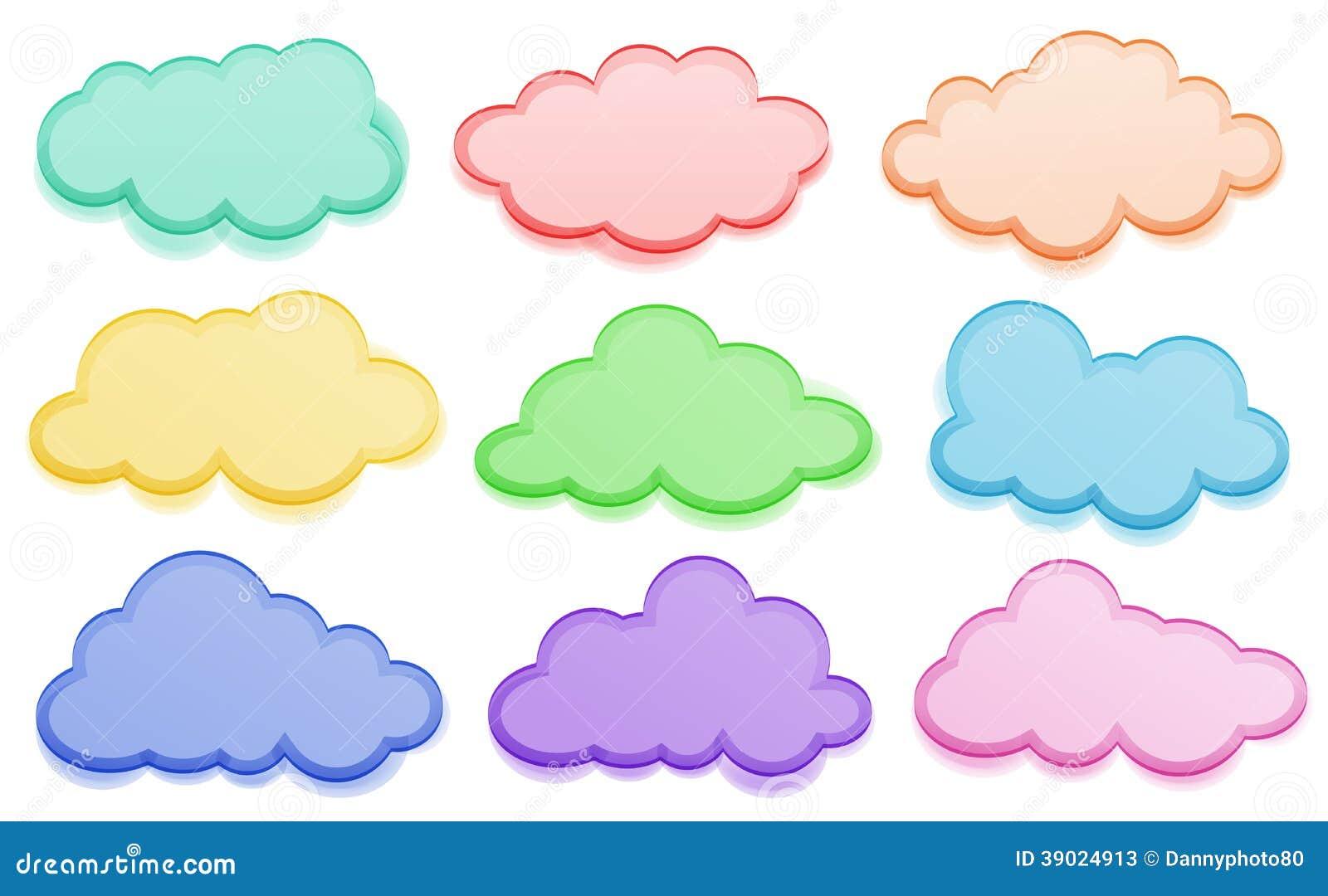Nuvens Coloridas Ilustração Do Vetor