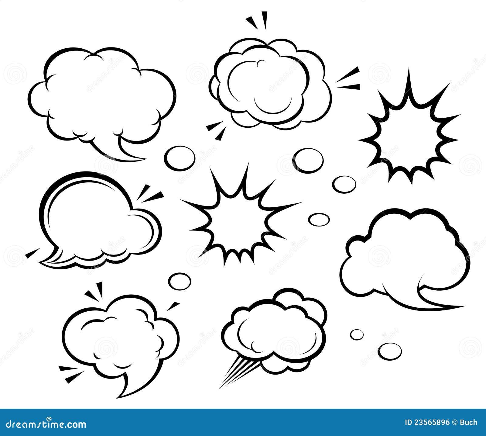 Nuvens e explosões dos desenhos animados