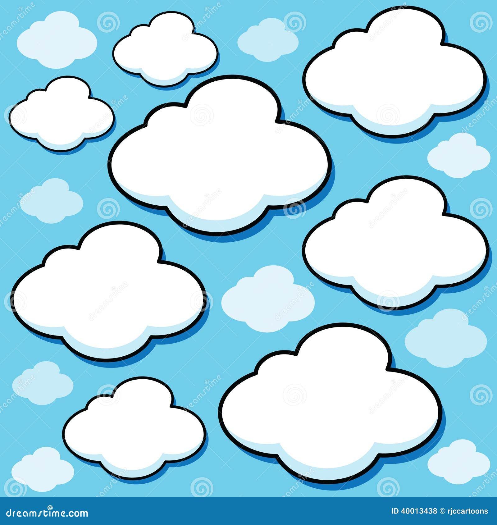 Nuvens Inchado Dos Desenhos Animados Ilustração do Vetor - Ilustração de  desenhos, inchado: 40013438